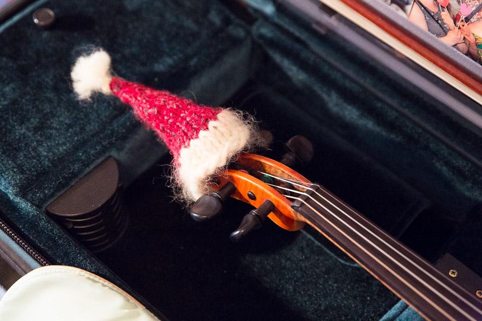 Julmusik - Fiol med tomteluva