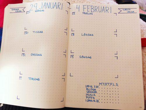 Veckoplanering – vecka 5
