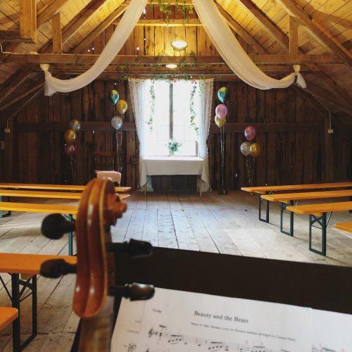 Lördagsjobb i form av bröllop
