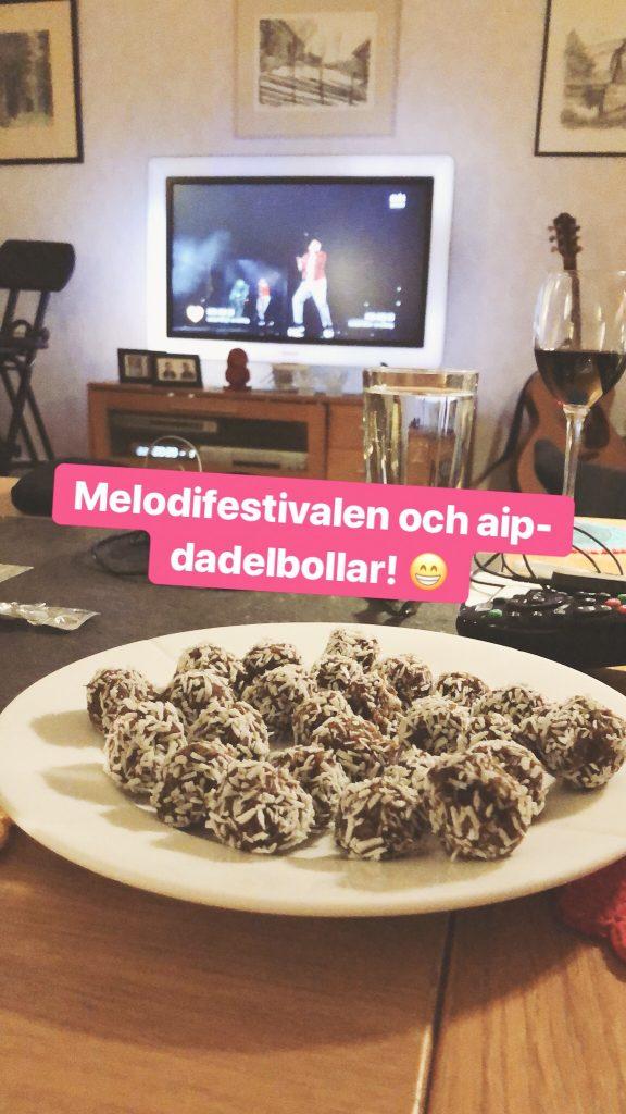 Dadelbollar och melodifestivalen - Amoll.net